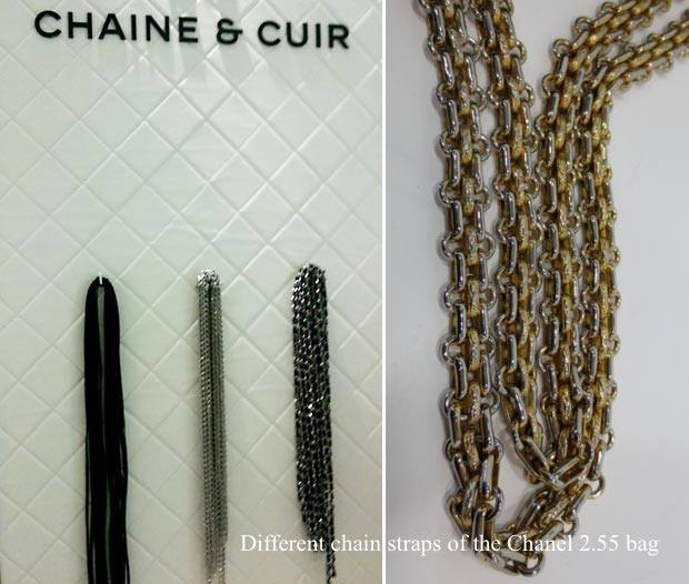Chanel 2.55 bag chain straps